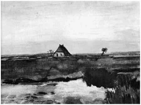 Vincent van Gogh Landscape with Farm Drenthe 1883