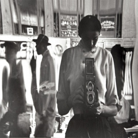 Eve Arnold Self-Portrait in a Distorted Mirror  42nd Street  New York 1950